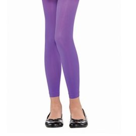 Purple Footless Tights - Child