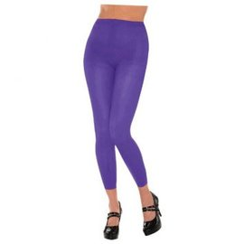 Purple Footless Tights-Adult