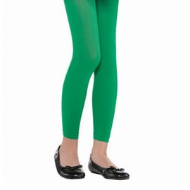 Green Footless Tights - Child