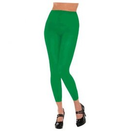 Green Footless Tights-Adult