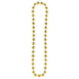 Gold Jumbo Bead Necklace