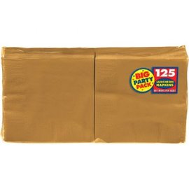 Gold Luncheon Napkins - Big Party Pack 125ct