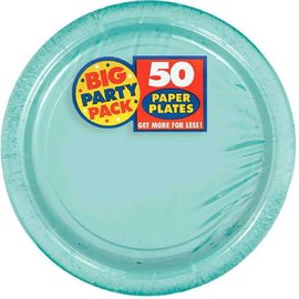 "Robin's Egg Blue Big Party Pack Paper Plates, 7""   50ct"