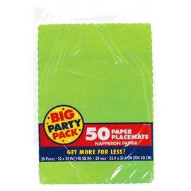Kiwi Solid Color Paper Placemats 50ct