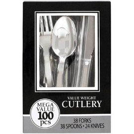 Premium Cutlery Asst. Chrome 100ct