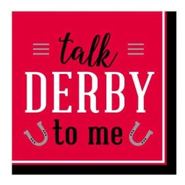 Derby Day Beverage Napkins - Talk Derby to Me 16ct.