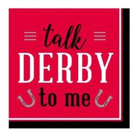 Derby Day Beverage Napkins - Talk Derby to Me 16ct.
