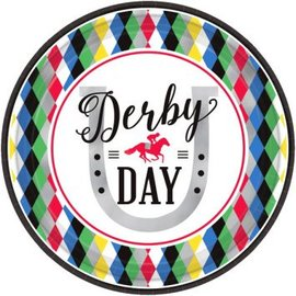 """Derby Day Round Plates, 9"""" 8ct."""