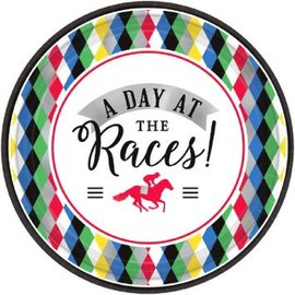 "Derby Day Round Plates, 7"" 8ct."
