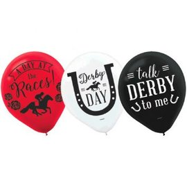 "Derby Day 12"" Latex Balloons, 15ct."