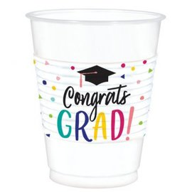 Yay Grad Printed Plastic Cups, 25 ct.