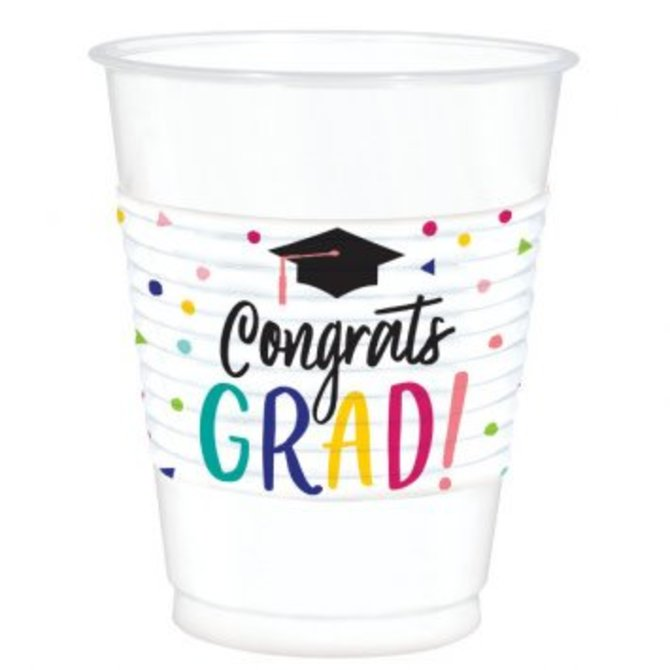 Yay Grad Printed Plastic Cups 25 Ct