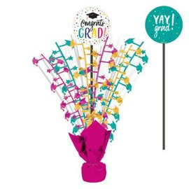 Yay Grad Spray Centerpiece 18""