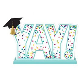 "Yay Grad Standing Sign 10""x11"""