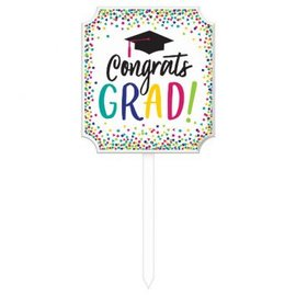 Yay Grad Lawn Sign Large Premium MDF