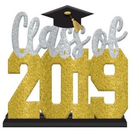 Class of 2019 Stand Up Sign - Black, Silver, Gold