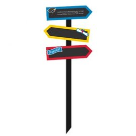 Grad Large Chalkboard Yard Stake - Multicolor