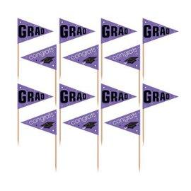 School Colors Pride Party Picks - Purple 36ct.