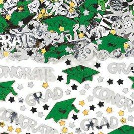 School Colors Embossed Metallic Confetti - Green 2 1/2oz.