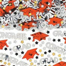 School Colors Embossed Metallic Confetti - Orange 2 1/2oz.