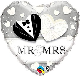 "Mr & Mrs Wedding Balloon, 18"" (#62)"