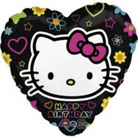 Happy Birthday Hello Kitty Heart Balloon, 18""