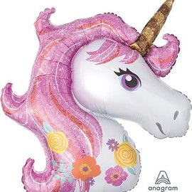 "Shimmer Unicorn Balloon, 33"" (#68)"