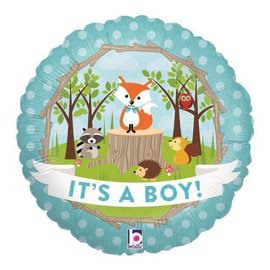 "Woodland Baby Boy Balloon, 18"" (#72)"