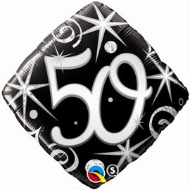 "50 Sparkle and Swirl Balloon, 18"""