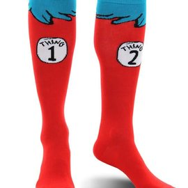 Dr. Seuss Cat in the Hat Thing 1&2 Costume Socks Kids