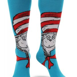 Dr. Seuss Cat in the Hat Knee High Costume Socks