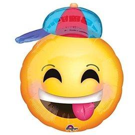 "Emoticon w/Hat Balloon, 20"""