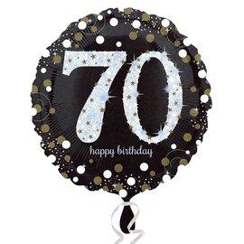 "Sparkling 70th Birthday Balloon, 18"""