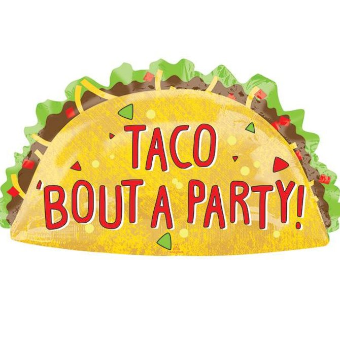 Taco Bout a Party Balloon, 33""