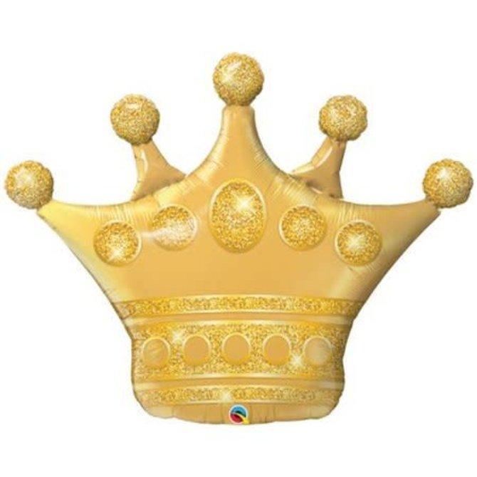 """Gold Tiara Balloon, 41"""""""