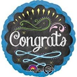 "Chalkboard Congrats Balloon, 18"" (#35)"