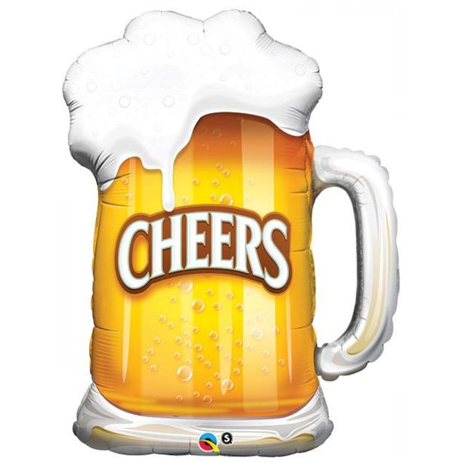 "Cheers Beer Glass Balloon, 35"""