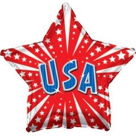 "USA Star Balloon, 18"""