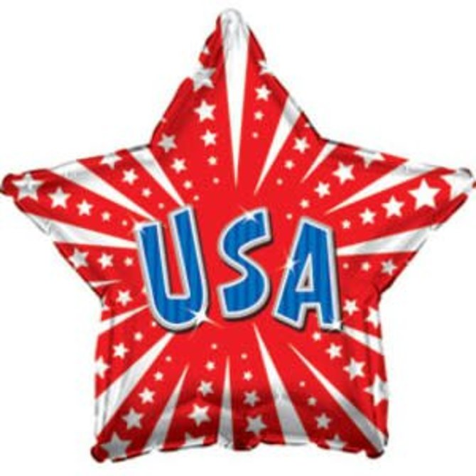 USA Star Balloon, 18""