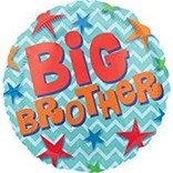 "Big Brother Stars Balloon, 18"""
