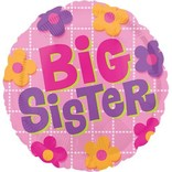 Big Sister Flowers Balloon, 18""