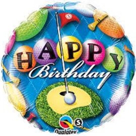 "Happy Birthday Golfer Balloon, 18"" (#89)"
