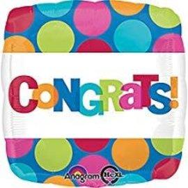 """Congrats Dots Balloon, 18"""" (#98)"""