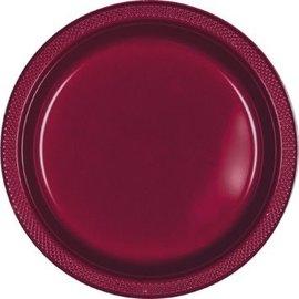 "Berry Plastic Plates, 9"", 20ct"