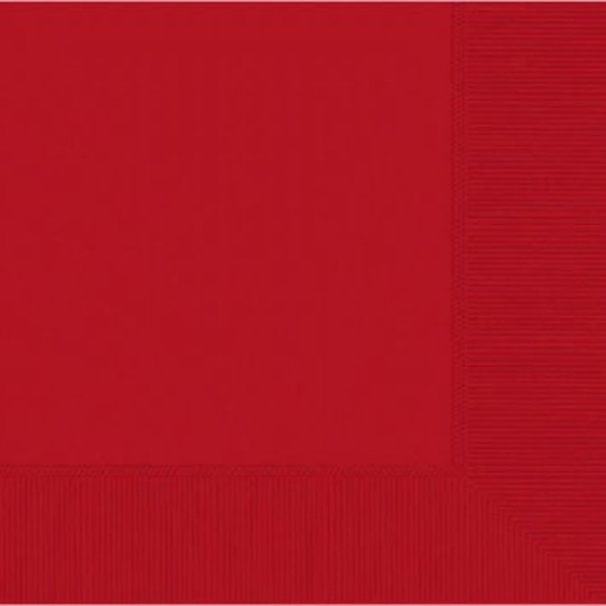 Apple Red 2-Ply Luncheon Napkins, 50ct