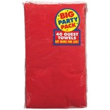 Apple Red Big Party Pack 2-Ply Guest Towels, 40ct