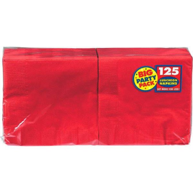 Apple Red Big Party Pack Luncheon Napkins 125ct