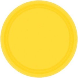 "Yellow Sunshine Paper Plates, 7"" 20ct"