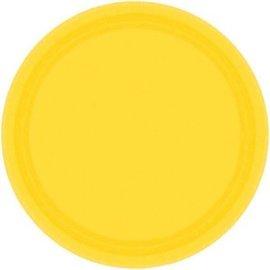 "Yellow Sunshine Paper Plates, 7"""