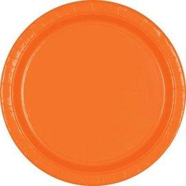 "Orange Peel Paper Plates, 7"" 20ct"